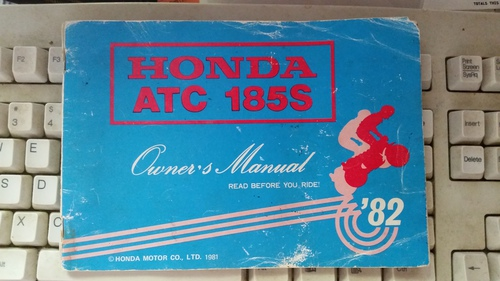 1982 Honda ATC 185s Owners Manual