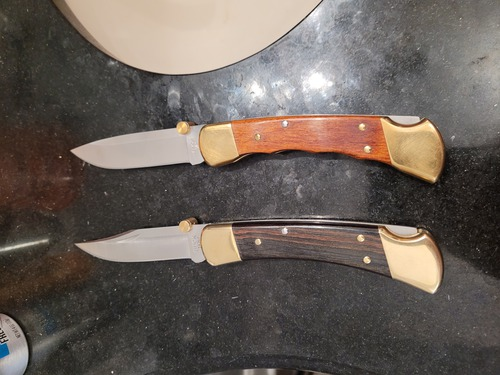 Buck 110 folding Hunter knives